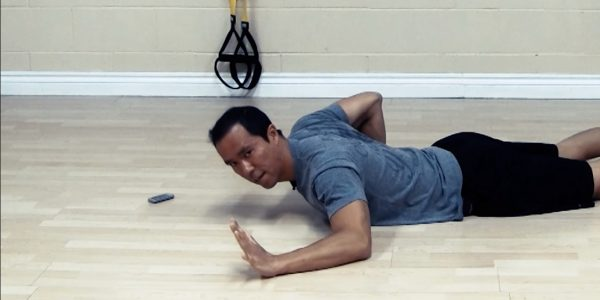 shoulder impingement stretches - hovering pushup
